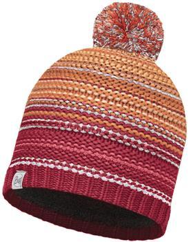 Buff Knitted & Polar Hat Nepper red samba/grey vigoré