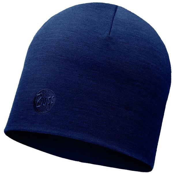 Buff Merino Wool Thermal Hat solid denim