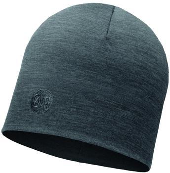 Buff Merino Wool Thermal Hat solid grey