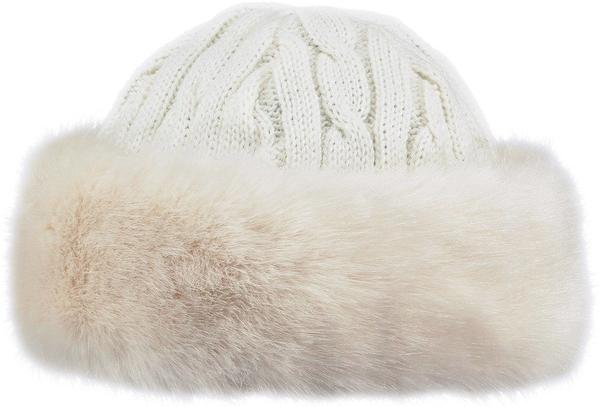 Barts W Fur Cable Bandhat white