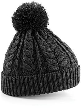 Beechfield CB454 Cable Knit Snowstar Beanie charcoal