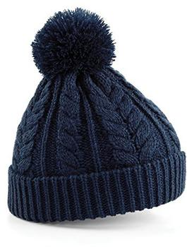 Beechfield CB454 Cable Knit Snowstar Beanie french navy