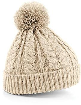 Beechfield CB454 Cable Knit Snowstar Beanie oatmeal
