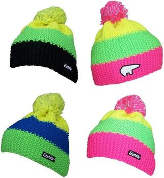 Eisbär Star Pompon Beanie black/light green/light yellow