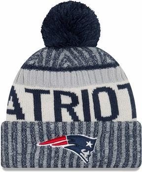 New Era ONF NFL17 New England Patriots Sport Knit Beanie blue