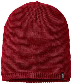 Jack Wolfskin Stormlock Knit Beanie red maroon