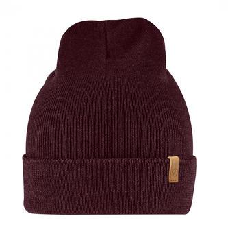 fjaellraeven-classic-knit-hat-dark-garnet