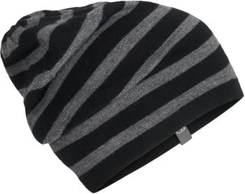 Icebreaker Stripe Slouch Beanie black