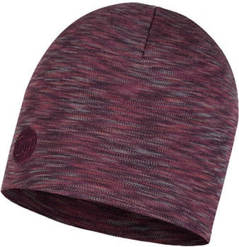 Buff Heavyweight Merino Wool Hat Regular shale grey multi stripes