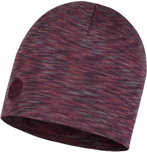 Buff Heavyweight Merino Wool Hat Regular shale grey multi stripes