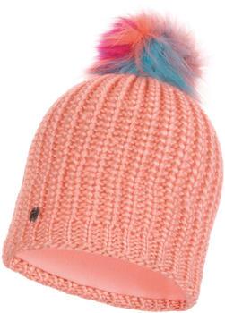 Buff Knitted & Band Polar Fleece Hat Dania peach (117867-217-10-00)