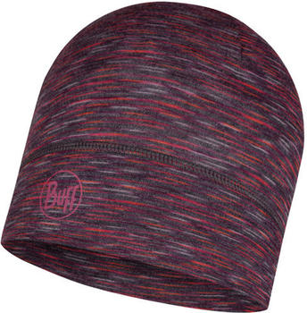 Buff Lightweight Merino Wool Hat shale grey multi stripes