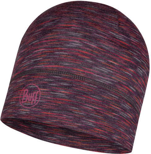 Buff Lightweight Merino Wool Hat shale grey multi stripes