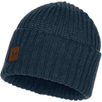 Buff Knitted Hat Rutger medieval blue