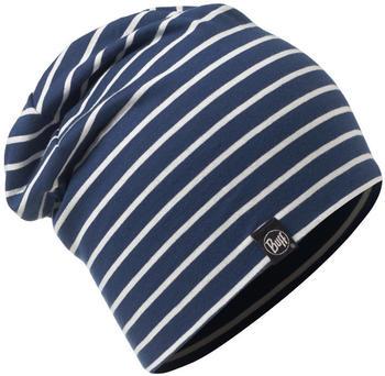 Buff Cotton Hat Denim Stripes