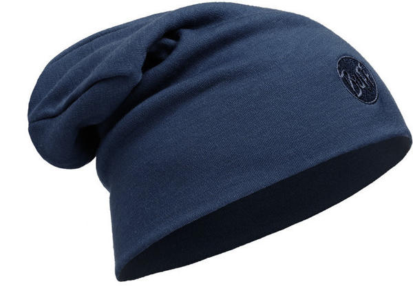 Buff Heavyweight Merino Wool Hat Loose slouchy solid denim