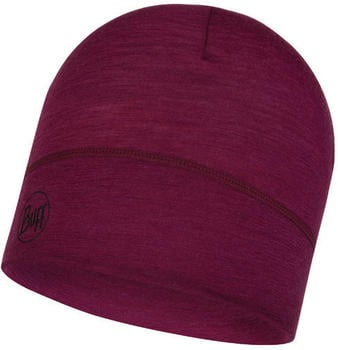 Buff Lightweight Merino Wool Hat solid raspberry
