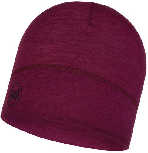 Buff Lightweight Merino Wool Hat solid raspberry