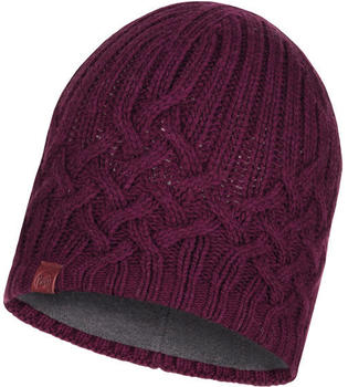 Buff Knitted & Band Polar Fleece Hat Helle wine