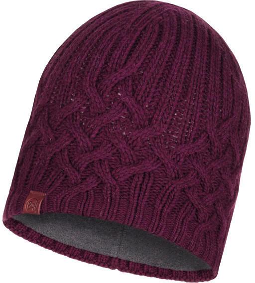Buff Knitted & Band Polar Fleece Hat Helle wine