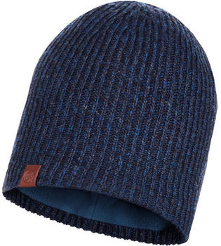Buff Knitted & Full Polar Hat Lyne night blue