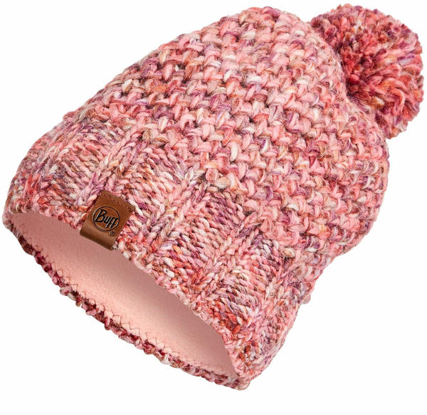 Buff Knitted & Band Polar Fleece Hat Margo flamingo pink