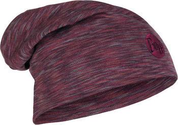 Buff Heavyweight Merino Wool Hat Loose shale grey multi stripes