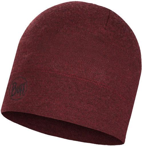 Buff Midweight Merino Wool Hat wine melange