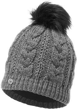 Buff Knitted & Polar Hat Darla grey pewter