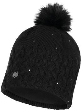 Buff Knitted & Full Polar Hat Elie black