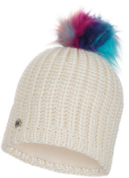 Buff Knitted & Band Polar Fleece Hat Dania cru