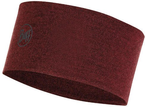 Buff 2 Layers Midweight Merino Wool Headband wine melange