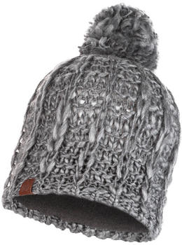 Buff Knitted & Band Polar Fleece Hat Liv pebble grey
