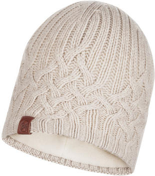 Buff Knitted & Band Polar Fleece Hat Helle cru
