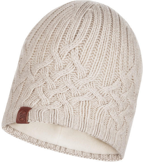 Buff Knitted & Band Polar Fleece Hat Helle cru