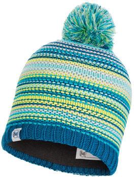Buff Knitted & Band Polar Fleece Hat Amity Turquoise (113533-789-10-00)