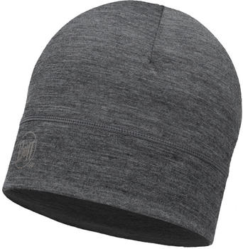 Buff Merino Wool 1 Layer Hat solid grey