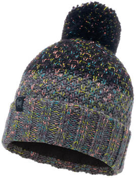 Buff Knitted & Band Polar Fleece Hat Janna ash grey