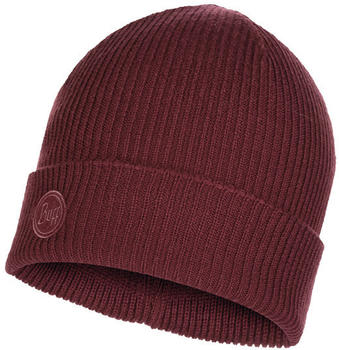 Buff Knitted Hat Edsel deep grape