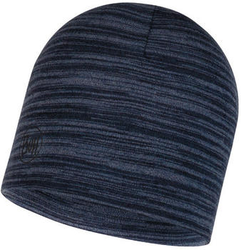 Buff Midweight Merino Wool Hat Denim multi stripes