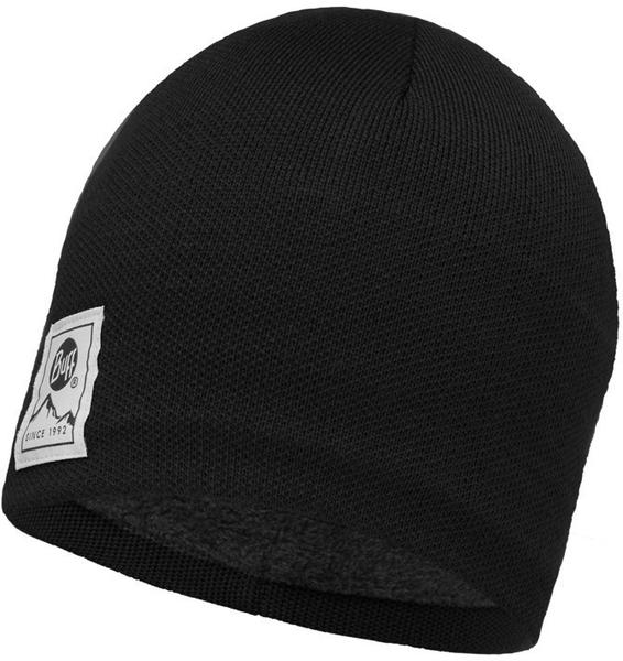 Buff Knitted Polar Hat Solid black