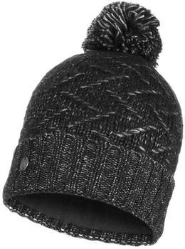 Buff Knitted & Band Polar Fleece Hat Ebba black