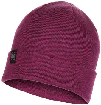 Buff Knitted Hat Greta Raspberry (117895-620-10-00)