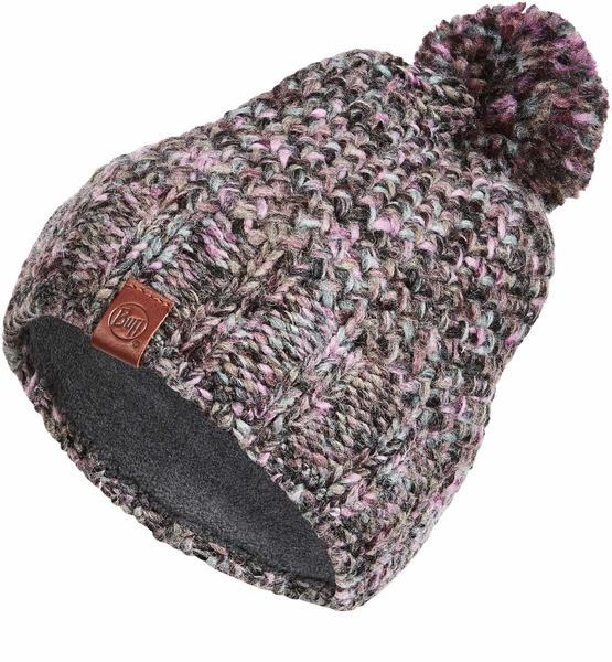 Buff Knitted & Polar Hat Margo plum