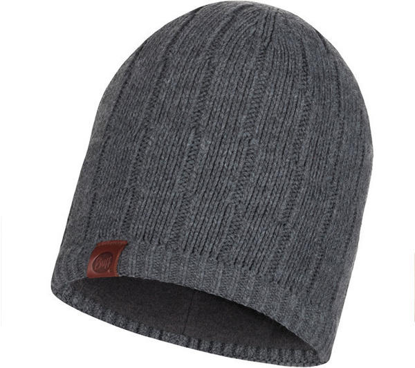 Buff Knitted & Band Polar Fleece Hat Jeroen grey