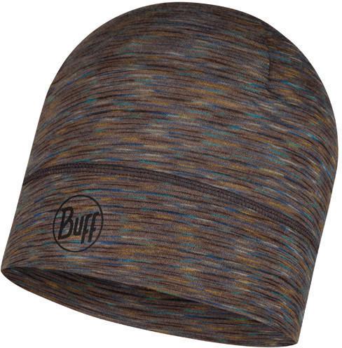 Buff Lightweight Merino Wool Hat Fossil multi stripes