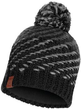 Buff Knitted & Band Polar Fleece Hat Nella graphite