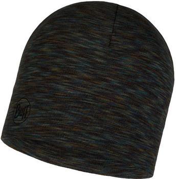 Buff Midweight Merino Wool Hat Fossil multi stripes