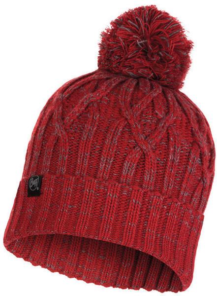 Buff Knitted & Full Polar Hat Idun red