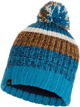 Buff Knitted & Band Polar Fleece Hat Stig teal blue
